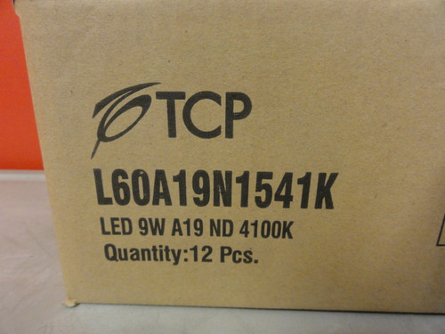 Case of (12) TCP L60A19N1541K 60W Incandescent Replacement Bulbs