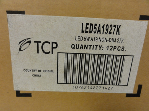 Case of (12) TCP LED5A1927K 40W Halogen Replacement Bulbs, 450 Lumens