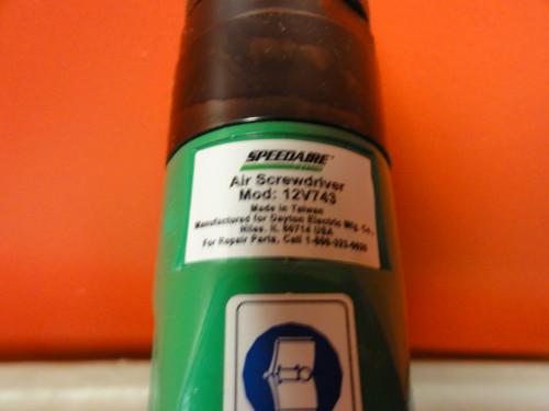 SPEEDAIRE Model 12V743 Pneumatic Screwdriver