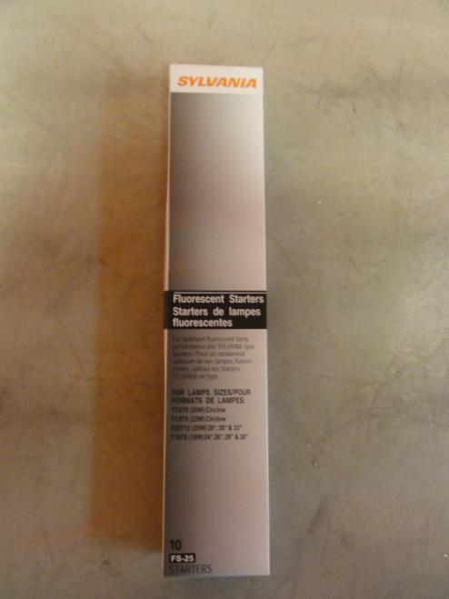 Pack of (10) Sylvania FS-25/10PK Fluorescent Starters *NEW*