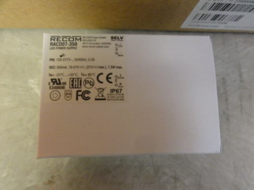 Box of (19) RECOM RACD07-350 LED POWER SUPPLIES