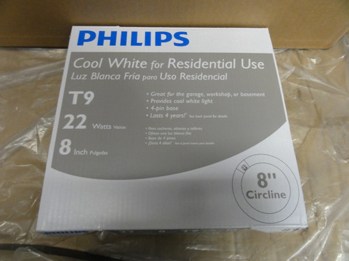 "Case of (12) Philips FC8T9 / Cool White Plus Fluorescent Bulbs, 22 Watt, 8"" Circline"