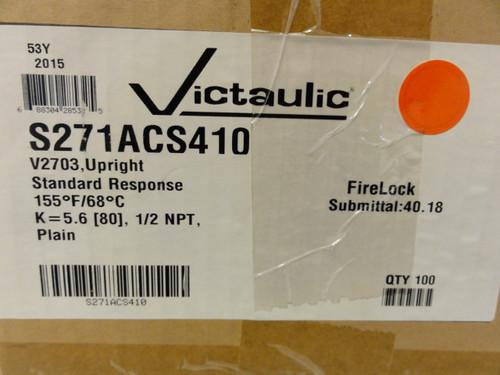 Case of (100) Victaulic S271ACS410 Standard Response Sprinkler Heads, V2703 Upright