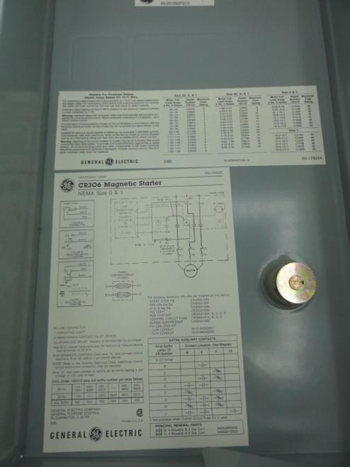 GE CR306C1 300 Line Control Starter, 600 VAC, 27A
