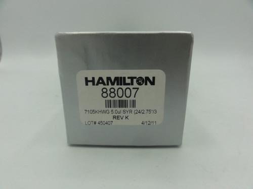 """Hamilton 88007 Glass SYR, 7105 KHWG, 5.0ul, 24/2.75""""/3"""