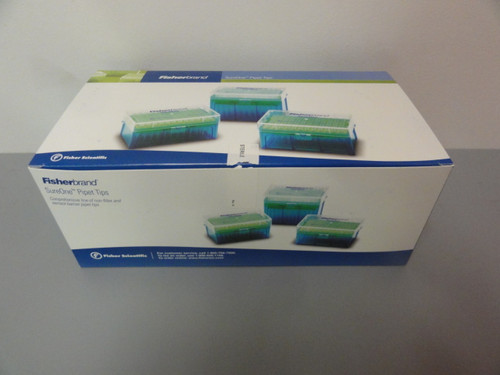 Case of (50) 960 Count Fisherbrand 02-707-416 Beveled Point Graduated Pipet Tips