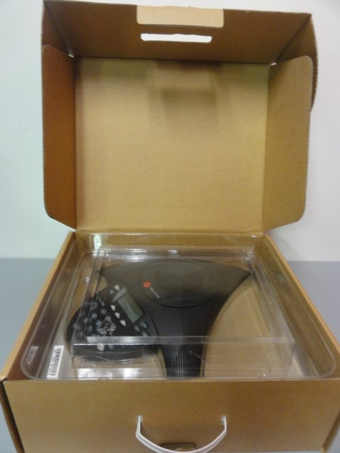 Polycom SoundStation2W 2201-67800-022 Conference Phone w/ (2) Extended Microphones, w/ Out Power Cord
