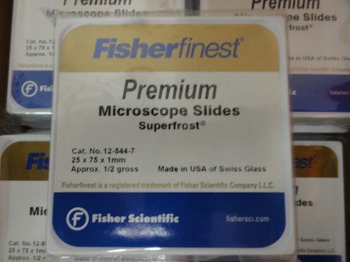 (20) Fisher Scientific Fisherfinest 12-544-7 Premium Superfrost Microscope Slides