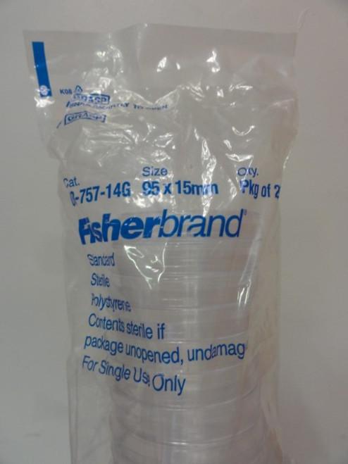 (2) Fisherbrand 08-757-14G Polystyrene Petri Dish, 95x15mm, Pkg of 25