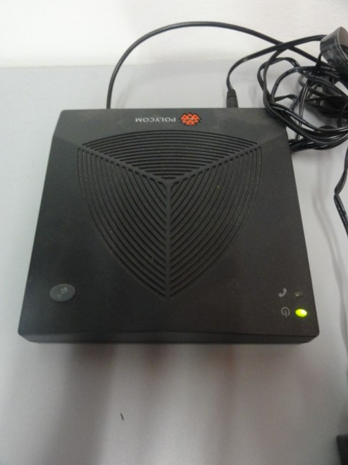 Polycom SoundStation2 2201-16200-601 Conference Phone w/ (2) Extended Microphones