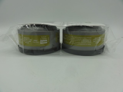 North 75SC Respirator Filter Cartridge (2 Pack), AM/CD/CL/FM/HC/HF/HS(esc)/MA/OV/SD