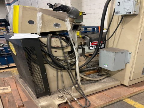 """HPM 1.75"""" TMC Extruder with WER Industrial 50HP Motor, S/N 84006"""
