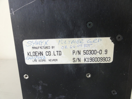 Kloen P/N 54300-0.9 Syringe Pump