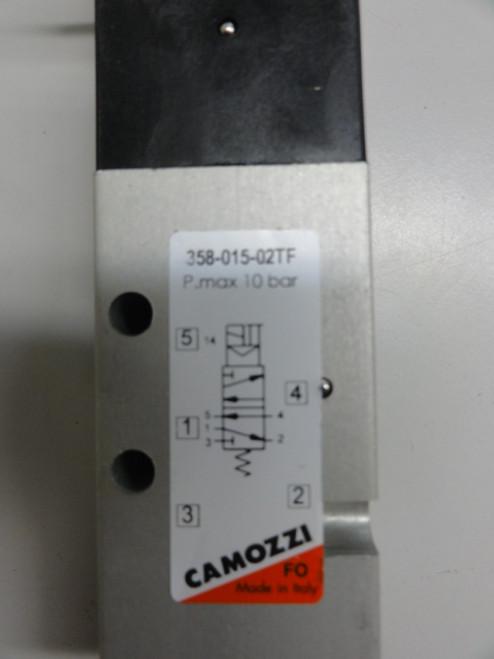 Camozzi 358-015-02TF Valve, P. max 10 bar w/ U77 Solenoid & Cable