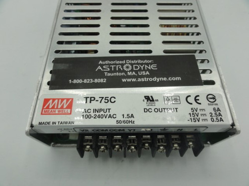 Mean Well TP-75C Switching Power Supply, 50/60Hz, 1.5A