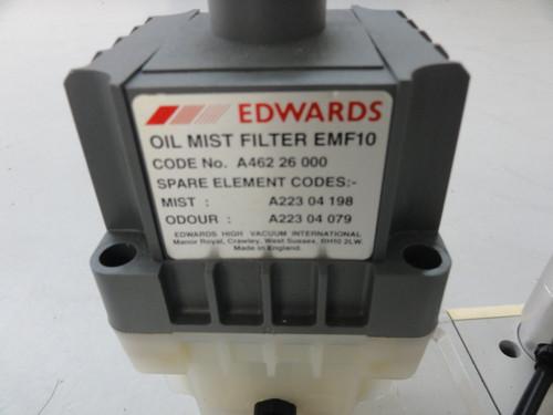 Edwards RV8 Rotary Vane Vacuum Pump w/ EMF10 Oil Mist Filter