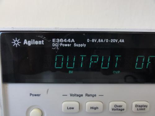 Agilent E3644A DC Power Supply, 0-8V, 8A / 0-20V, 4A