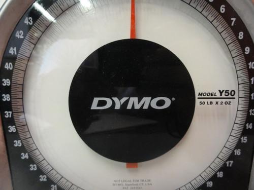 Dymo Y50 Heavy Duty Mechanical Package Scale, 50 LB Capacity