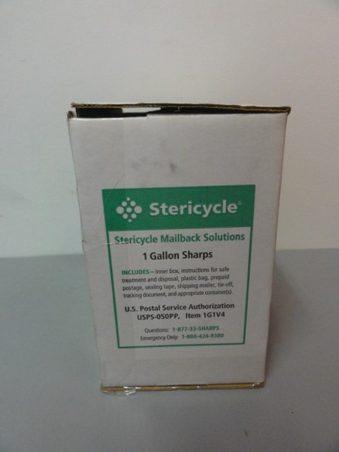 Stericycle Mailback Solutions 1 Gallon Sharps Disposal Kit