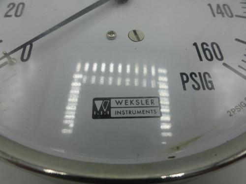 Weskler Instruments 160 PSIG Pressure Gauge