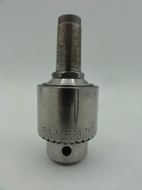 Jacobs 1BA 3/8-24 THD Drill Chuck, 0-1/4 in.