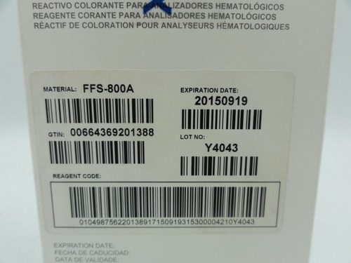 (2) Sysmex FFS-800A Stain Reagent for Hematology Analyzers (Expired 2015), (1) 3 Pack, (1) 2 Pack