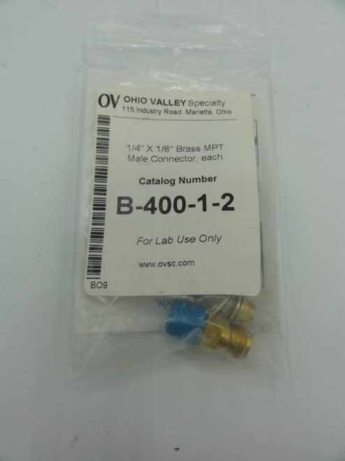(2) Ohio Valley Specialty B-400-1-2 Brass MPT Male Connector