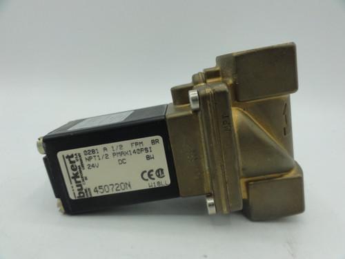 Burkert 450720N Solenoid Valve, NPT 1/2, PMAX 140PSi