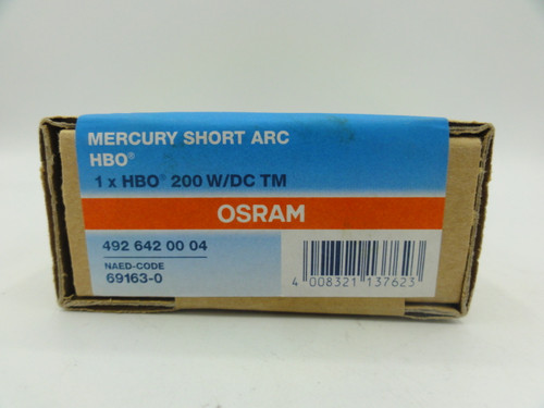 OSRAM 492 642 00 04 Mercury Short ARC HBO, 200 W/DC TM