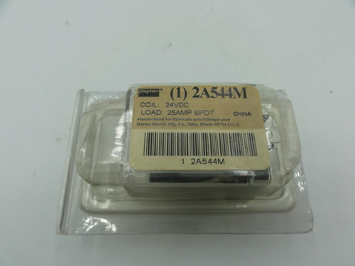Dayton 2A544M Switch Mode, Coil: 24VDC, Load: 25AMP SPDT