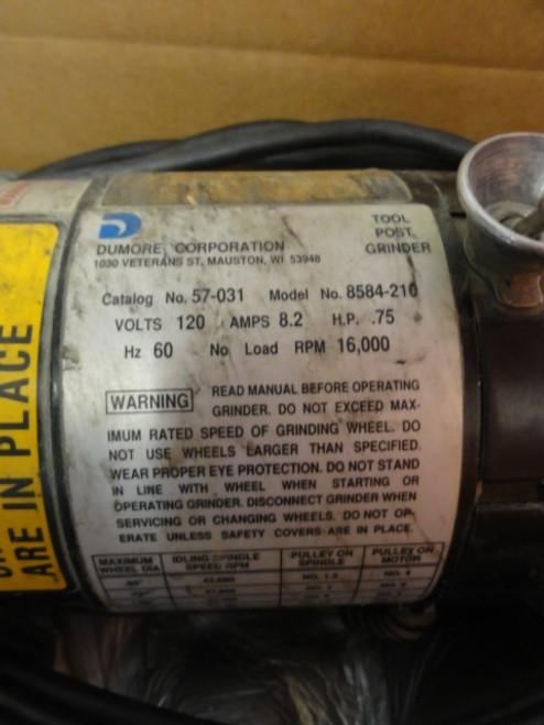 Dumore Corporation 8584-210 Grinder Motor