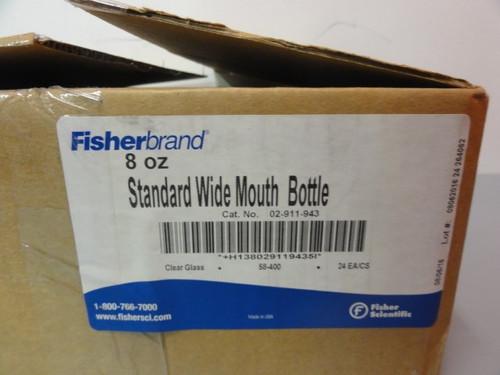 Fisher Scientific 02-911-943 Standard Wide Mouth Bottle, 8 oz, 24 pc