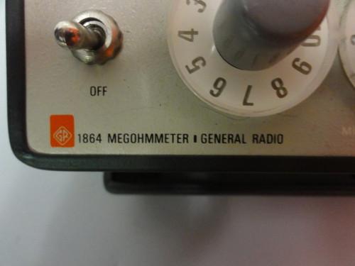 IET Gen Rad 1864 Megohmmeter
