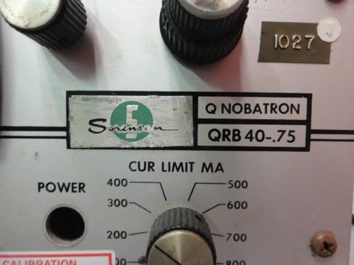 Sorenson QRB 40-.75 DC Power Supply