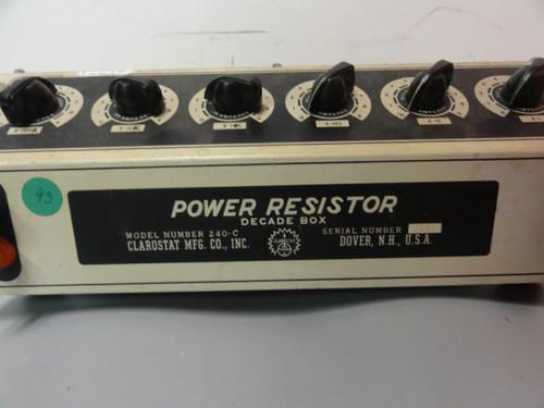 Clarostat MFG. Co. 240-C Power Resistor