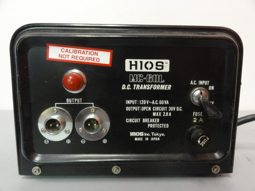 H10S MC-60L D.C. Transformer, For Parts Does Not Turn On