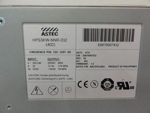 Astec HPS3KW-NNR-032-(402) Power Supply