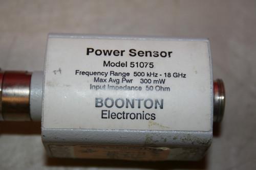 Boonton Electronics 51075 Power Sensor, 500kHz - 18GHz, 300mW, 50Ohm