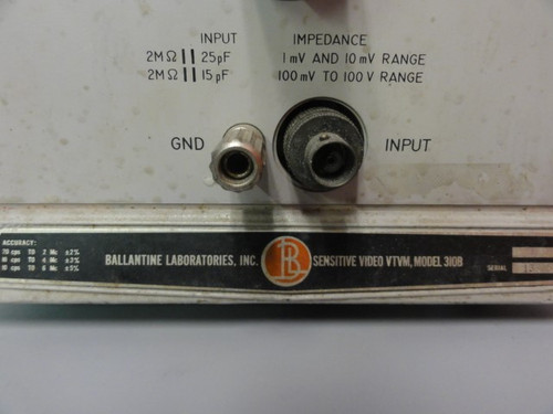 Ballantine Laboratories Inc. 310B Sensitive Video VTVM