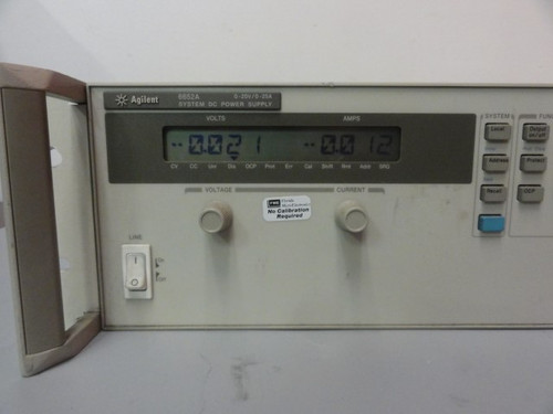 Agilent 6652A System DC Power Supply, 0-20V/0-25A