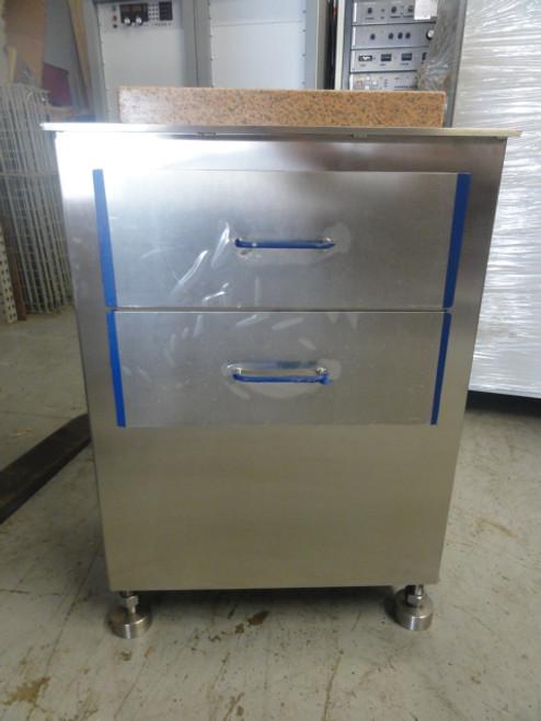 """S.S. 17""""x25""""x35""""H Cabinet w/ Starrett Grade AA 12""""x18""""x2"""" Granite Surface Plate"""