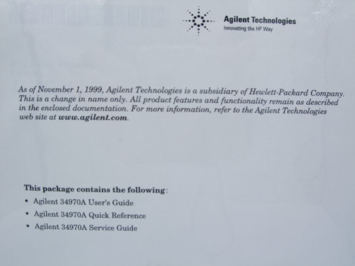 Agilent 34970A Data Acquisition/Switch Unit User's and Service Guide