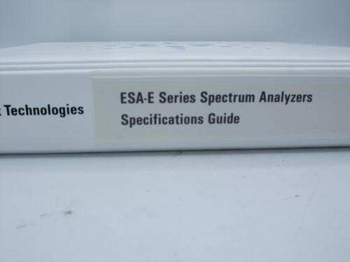Agilent ESA-E Series Spectrum Analyzers Specifications Guide