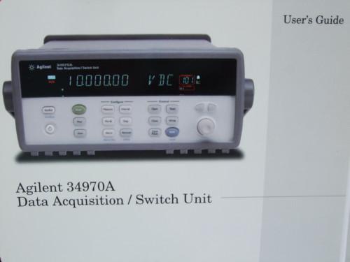 Agilent 34970A Data Acquisition/Switch Unit User's Guide