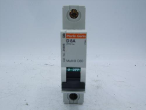 Merlin Gerin C60 D8A 1-Pole Circuit Breaker