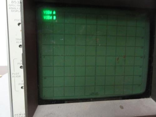Hewlett Packard 8557A Spectrum Analyzer With 853A Spectrum Analyzer Display