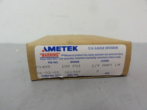 Ametek P1409 USG Test Gauge 0-100 PSI- New (Open Box)