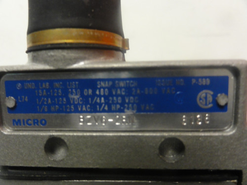 Honeywell Microswitch BZV6-2RN Limit Switch- New (Open Box)