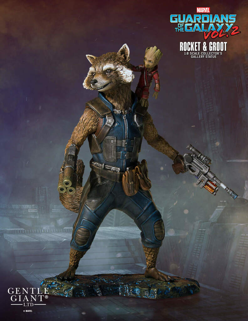 Rocket And Groot (Guardians Of The Galaxy Vol.2) Collectors Gallery Statue Thumbnail 10