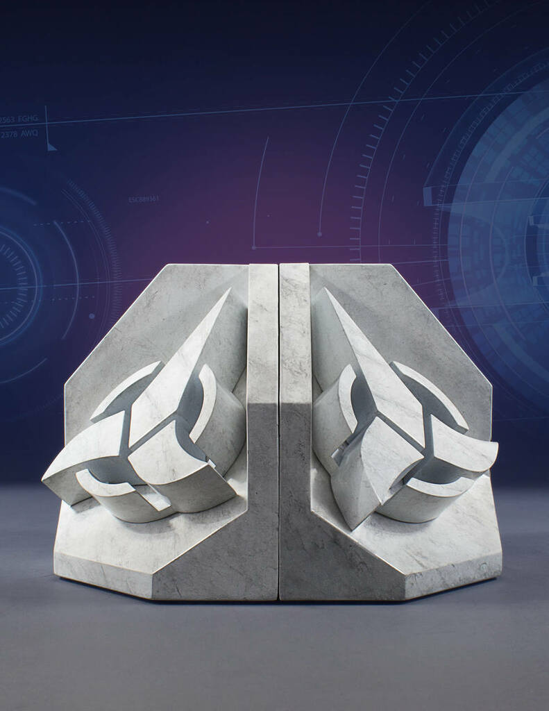 Star Trek Faux Marble Bookend Bundle